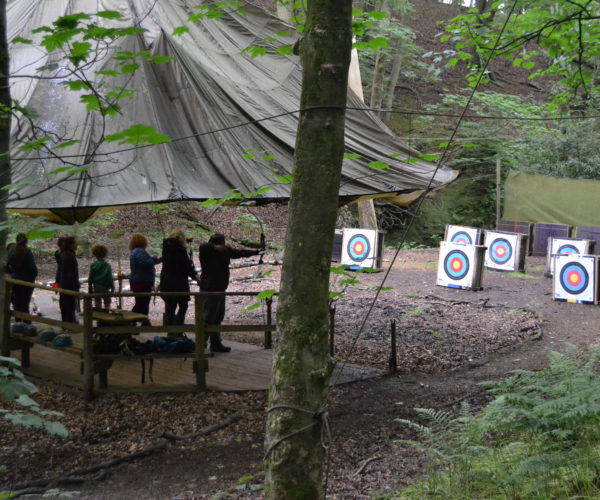 covered archery range in Simonstone