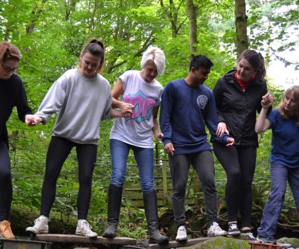swamp crossing problem solving at Simonstone outdoor activity centre