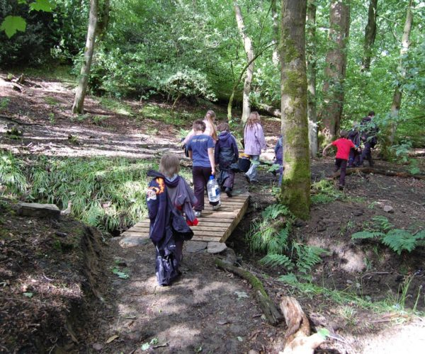 Woodland story trail at Outdoor Elements in Lancashire