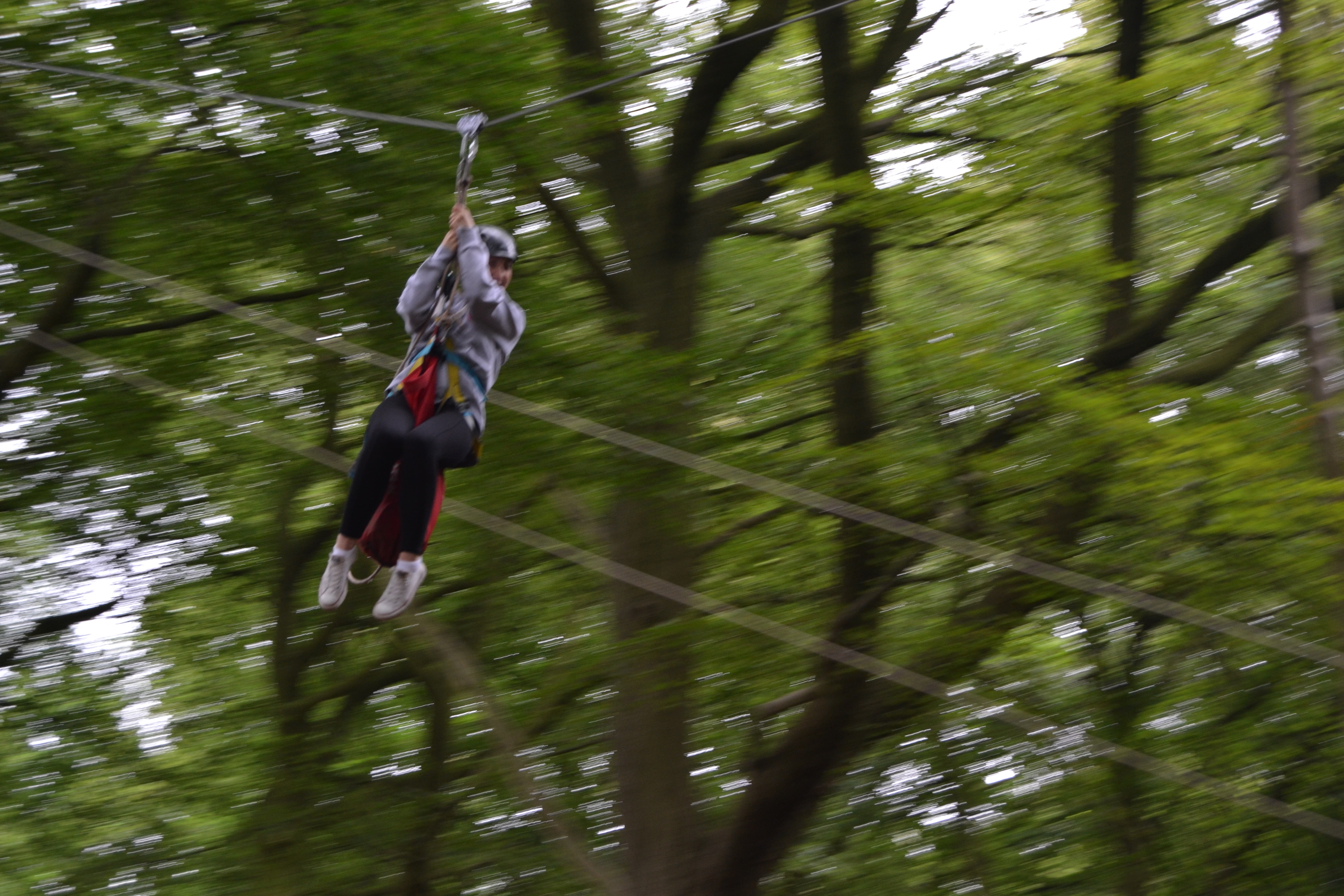 300 metre zip line at Outdoor Elements Simonstone