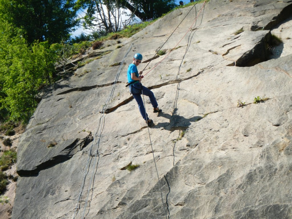 children abseiling with Outdoor Elements Lancashire
