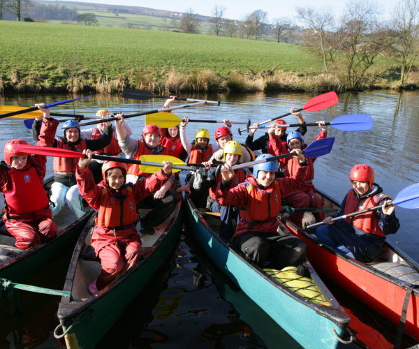 canoeing on the Leeds Liverpool canal