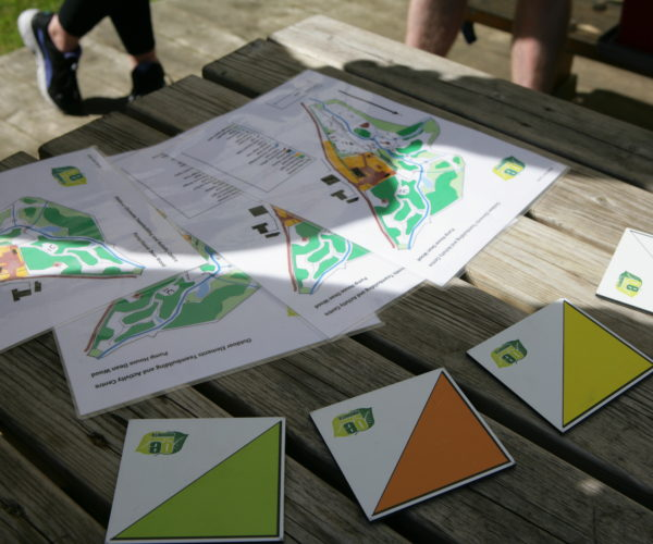 orienteering control cards at Outdoor Elements