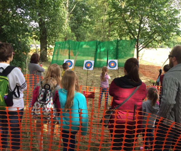 archery at Towneley woodland festival