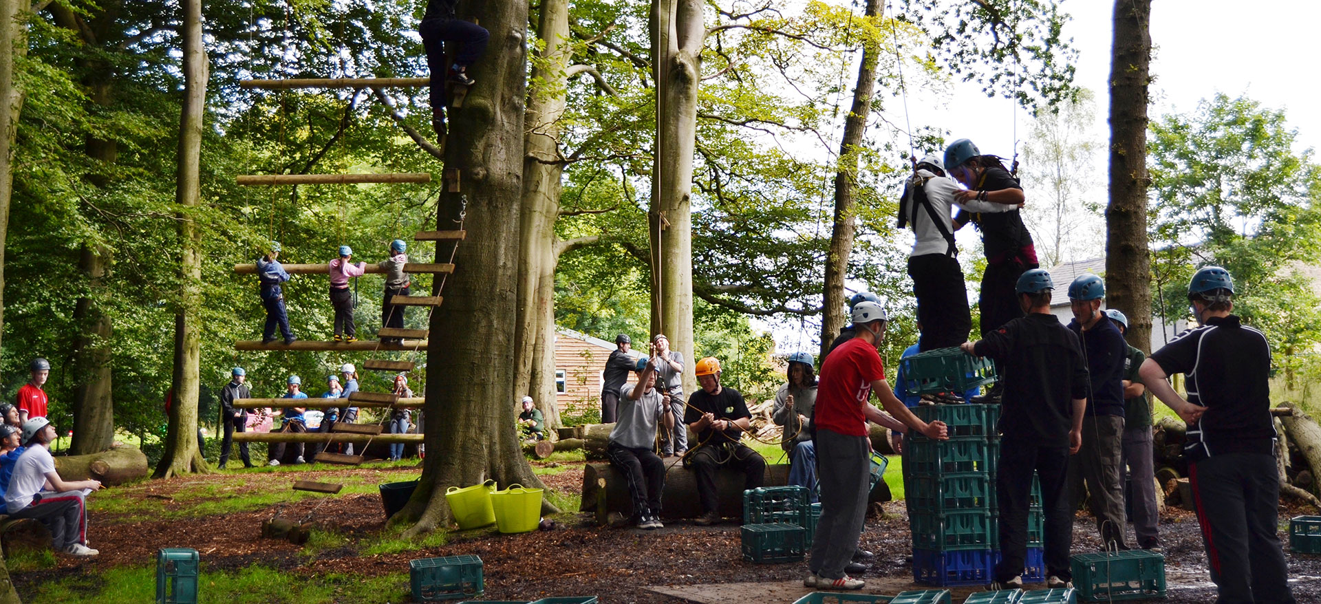 high rope activities in Simonstone